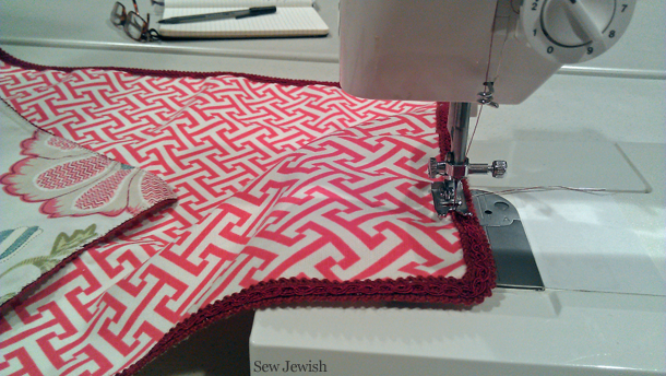 finish sewing challah cover