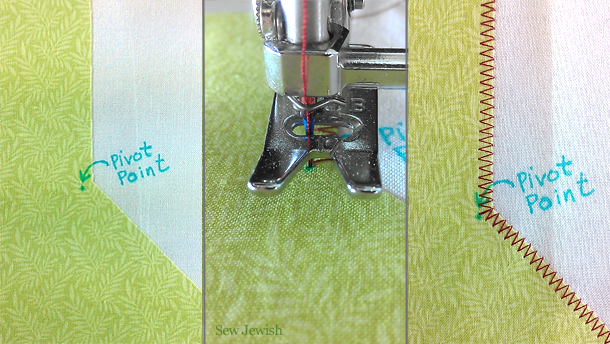 how to machine applique inside corner