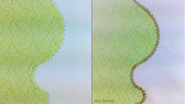mark pivot points on curves for machine applique