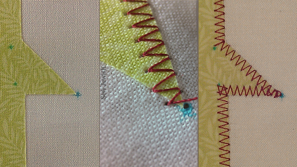 machine applique sharp corner