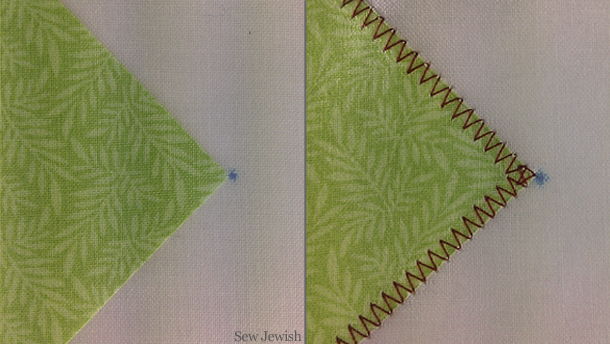 how to machine applique corner