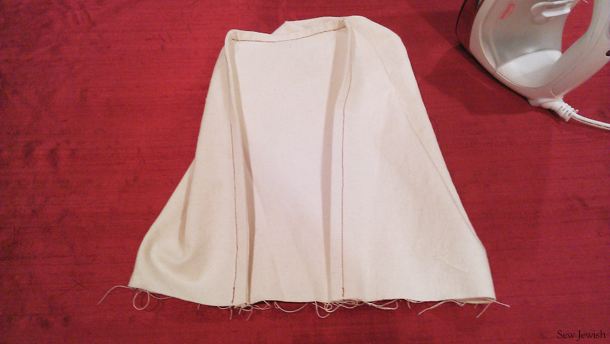 sew side seam fabric shopping bag