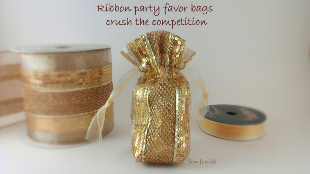 How to sew ribbon favor bags