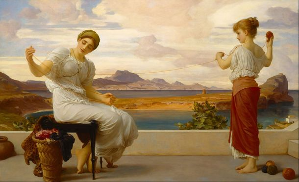 800px-Lord_Frederic_Leighton_-_Winding_the_skein_-_Google_Art_Project