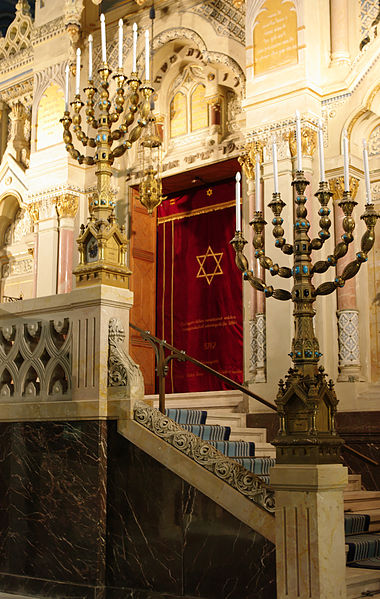 Candelabrum in New Synagogue Szeged Hungary