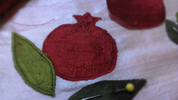 Pomegranate applique