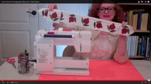 Machine applique sewing tutorial video