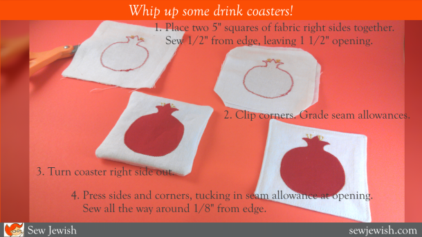 how to sew drink coasters