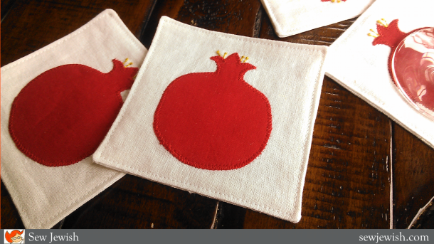 sew wine coasters