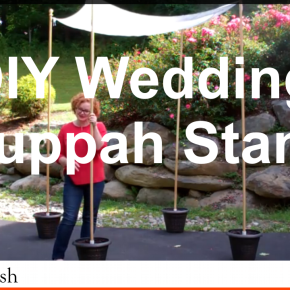 How to Make Your Own Wedding Chuppah Pole Stands [Video]
