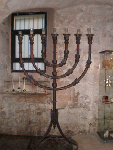 Menorah from Barcelona Synagogue