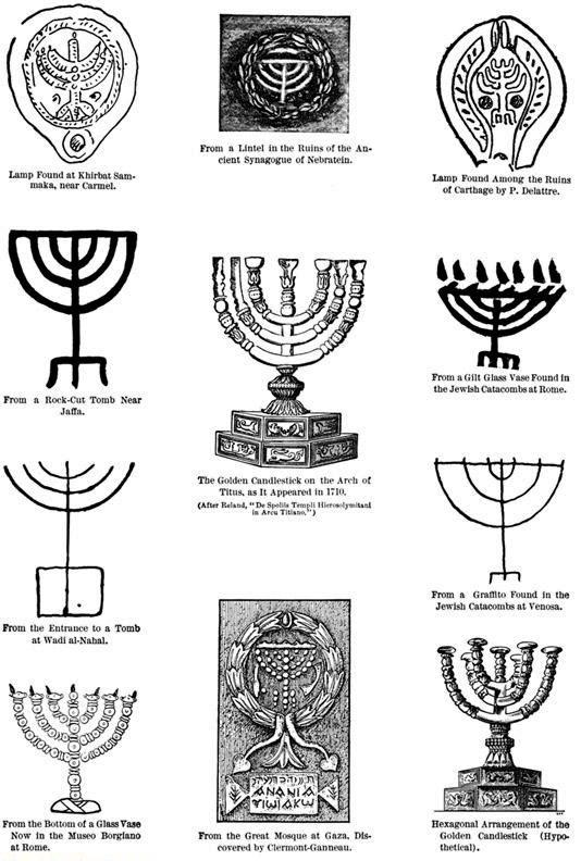 Menorah illustrations