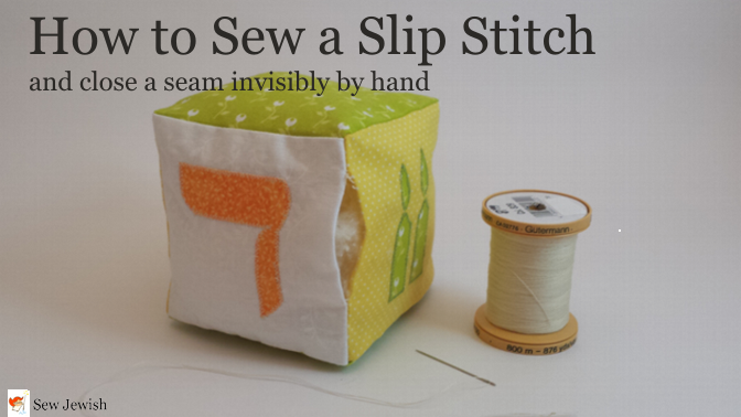 how to sew a slip stitch and close a seam invisibly sew. Black Bedroom Furniture Sets. Home Design Ideas