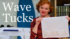 How to Sew Wave Tucks for a Natilat Yadayim Hand Washing Towel