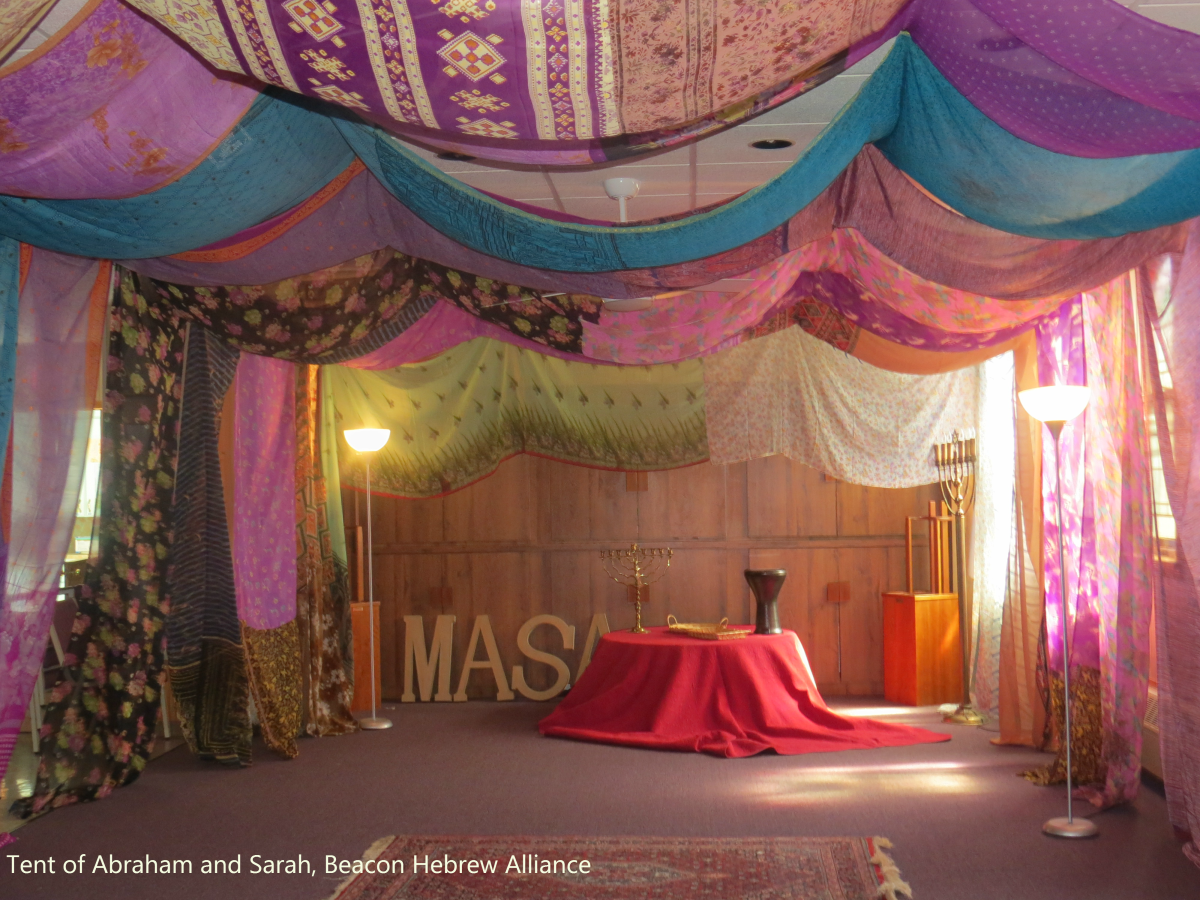 Synagogue Sews A Colorful Fabric Sanctuary A Tent Of