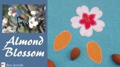 Almond blossom applique pattern