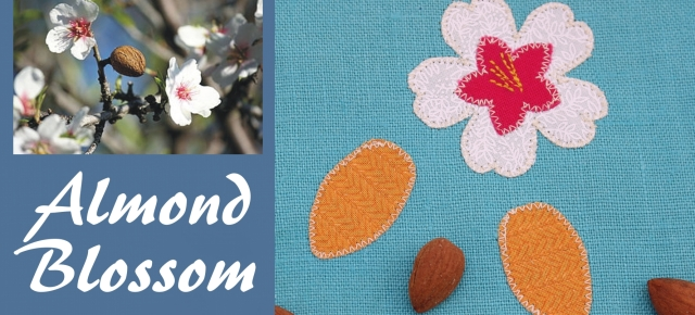 Almond blossom applique pattern