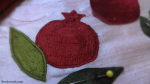 Pomegranate applique pattern
