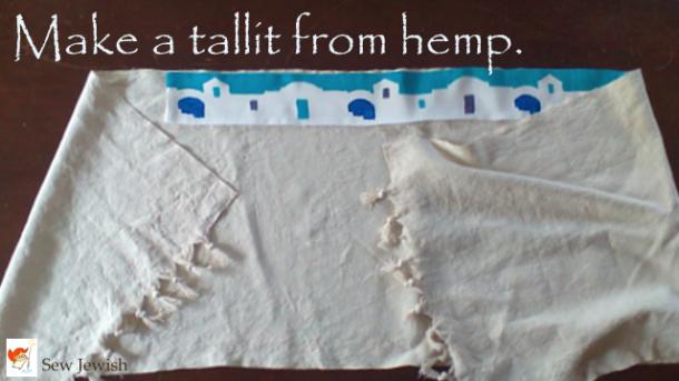 Handmade Hemp Tallit Sew Jewish
