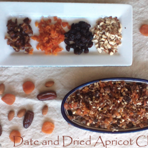 Try this date and dried apricot charoset recipe for Passover