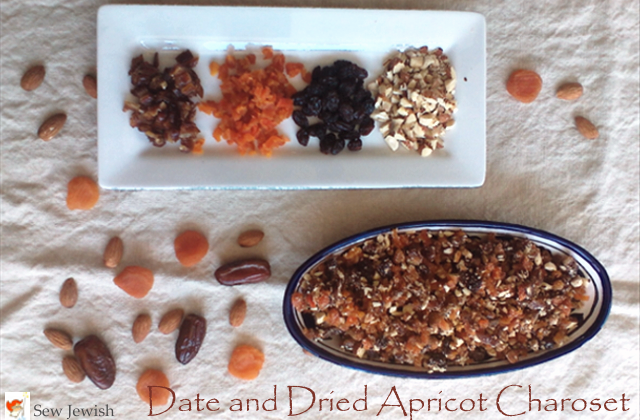 Date and dried apricot charoset recipe