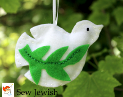 Dove with olive branch ornament kit