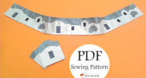 New Tallit Atarah Pattern: King David's Jerusalem