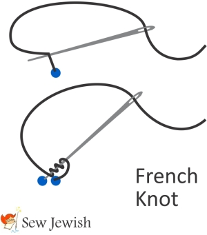 how to embroider french knot