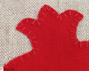 Pomegranate applique pattern
