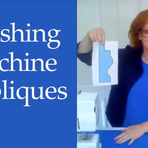 New Video: Finishing Machine Appliques –Beautifully!