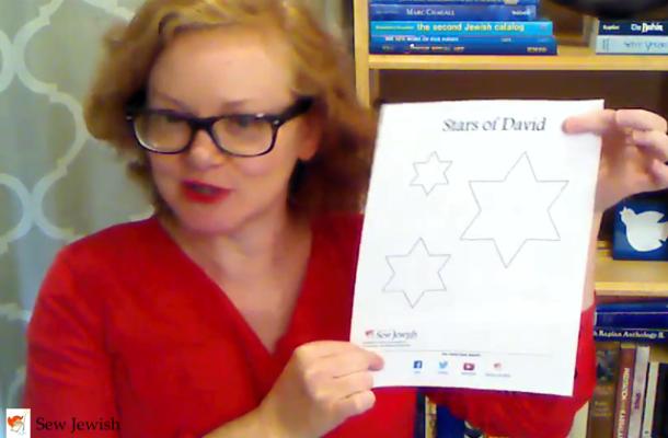 Star of David applique pattern