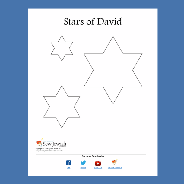 Star of David PDF pattern