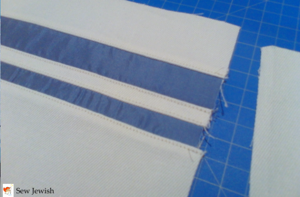 topstitch fabric insets