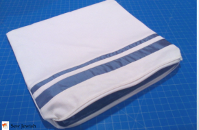 How to Add Stripes to a Tallit Bag with Inset Fabric Strips