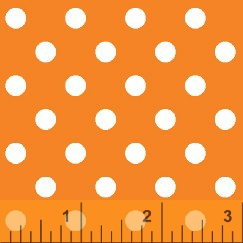 Orange Polka dot fabric