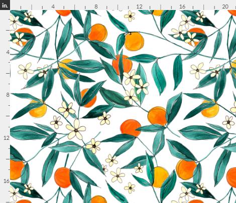 Orange Summer By Justine Miller on Spoonflower
