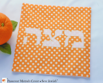 Orange matzah cover