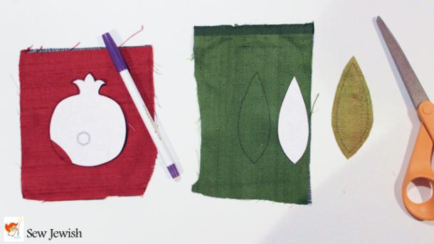 Hand applique silk cut out pattern