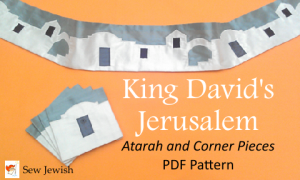 King David's Jerusalem Atarah and Corner Pieces PDF Pattern