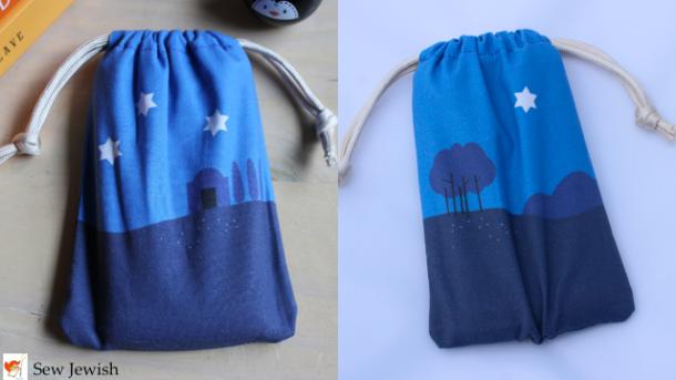 Cell phone sleeping bag Sew Jewish