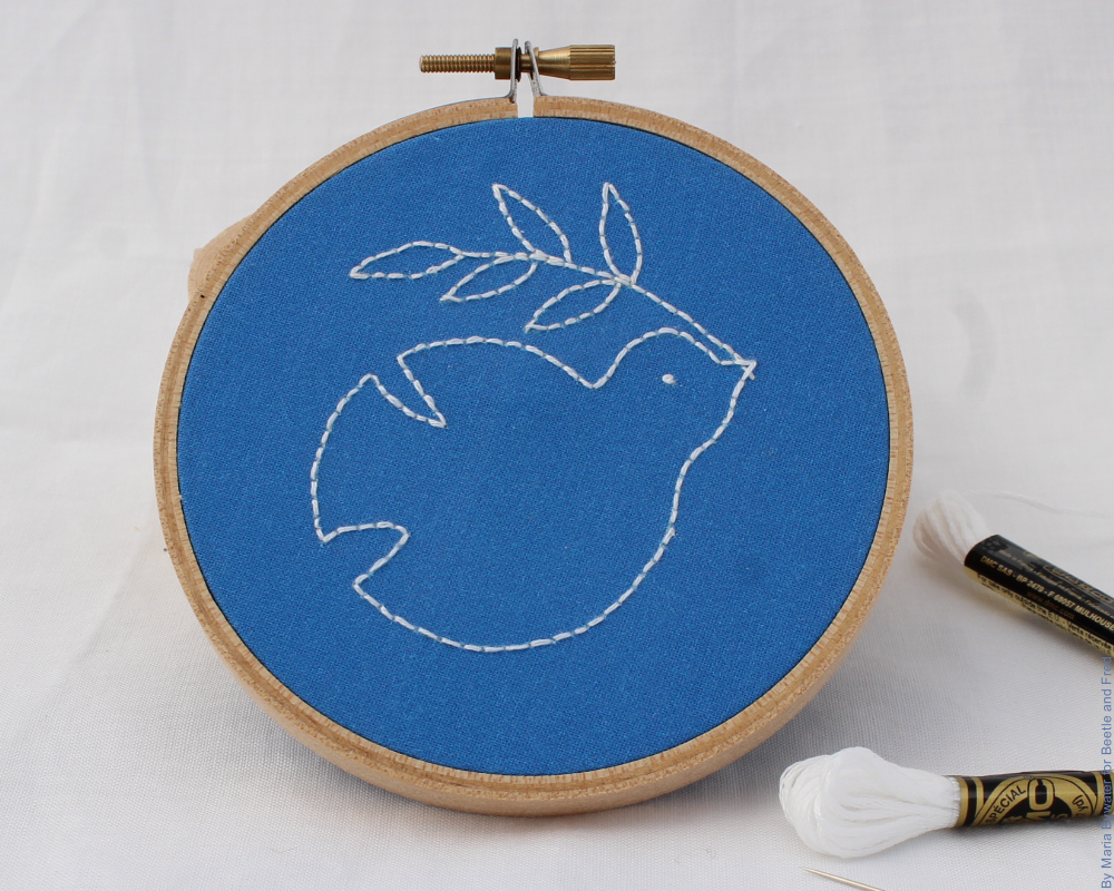 dove embroidery project