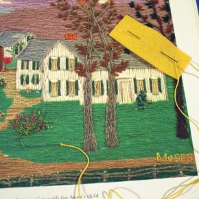 Grandma Moses, Embroiderer