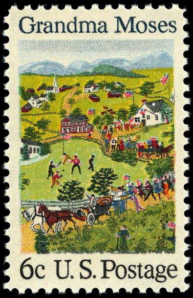 Grandma Moses Postage Stamp 1969