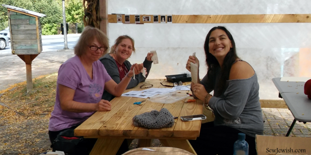Beacon Sukkah Project 2017 Drawn Thread Embroidery Workshop