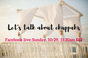 Let's talk about chuppahs – A Facebook live event this Sunday
