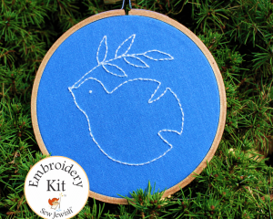 dove embroidery kit
