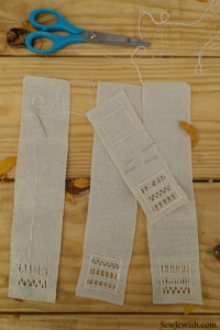 Drawn Thread Embroidery Class Bookmarks