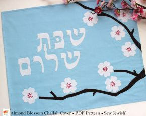New Challah Cover Sewing Pattern: Almond Blossoms