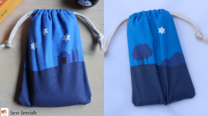 finished cell phone sleeping bag front and back