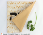 Matzah cover back view pattern